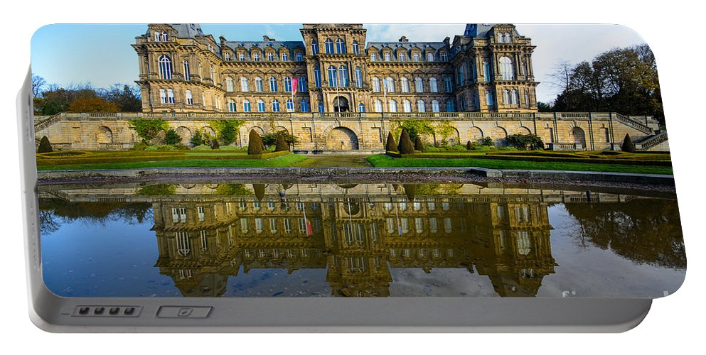 Barnard Castle Portable Battery Charger featuring the photograph Bowes Museum by Smart Aviation