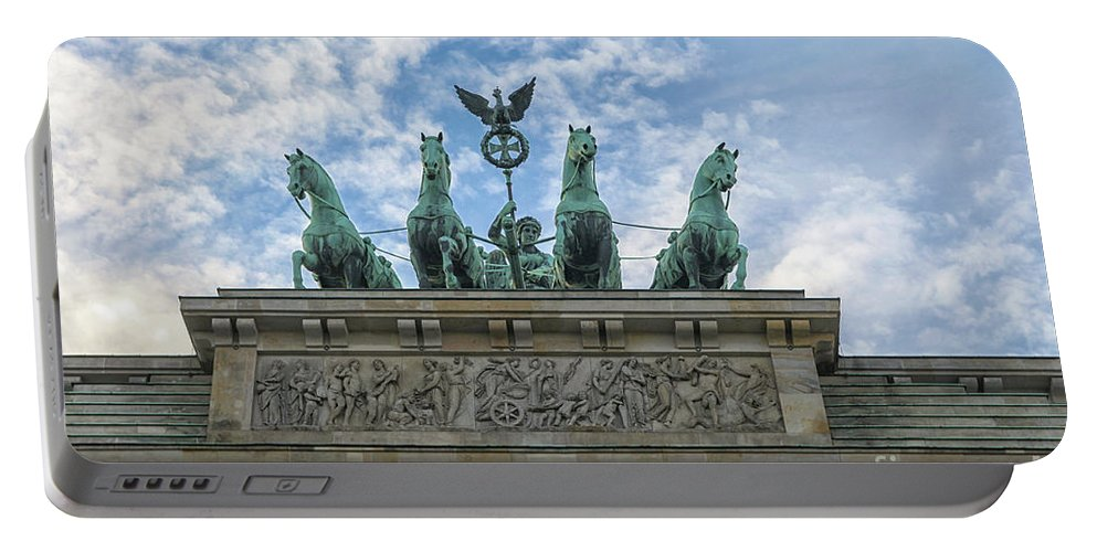 Gate Portable Battery Charger featuring the photograph Brandenburger Gate, Berlin by Patricia Hofmeester