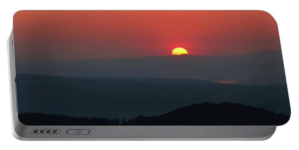 Hill Portable Battery Charger featuring the photograph Breathtaking Sunset At Tatra Mountains, Carpathian Region, Poland by Lukasz Szczepanski