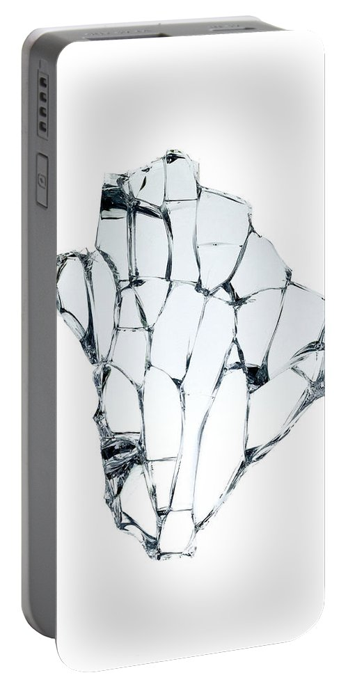 Broken Portable Battery Charger featuring the photograph Broken Glass by Fabrizio Troiani