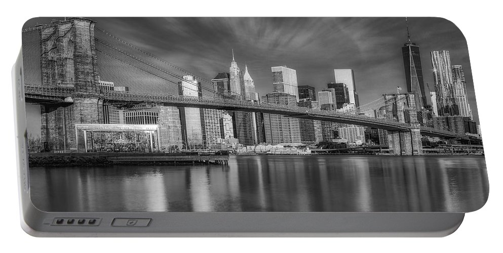 Brooklyn Bridge Portable Battery Charger featuring the photograph Brooklyn Bridge From Dumbo by Susan Candelario