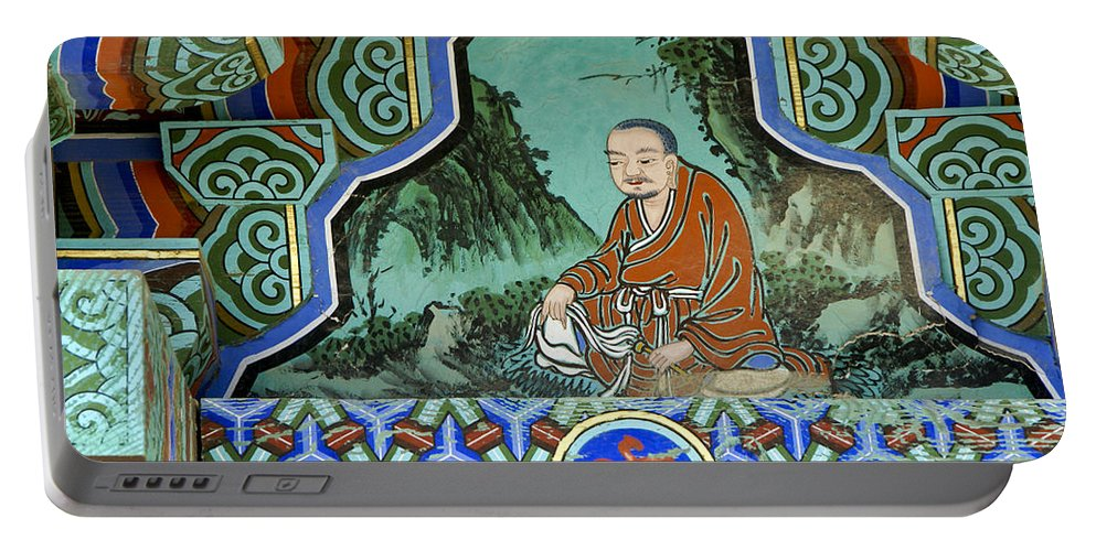 Buddha Portable Battery Charger featuring the photograph Buddhist Temple Art by Michele Burgess