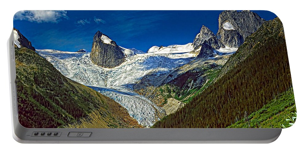 Mountains Portable Battery Charger featuring the photograph Bugaboo Spires by Steve Harrington