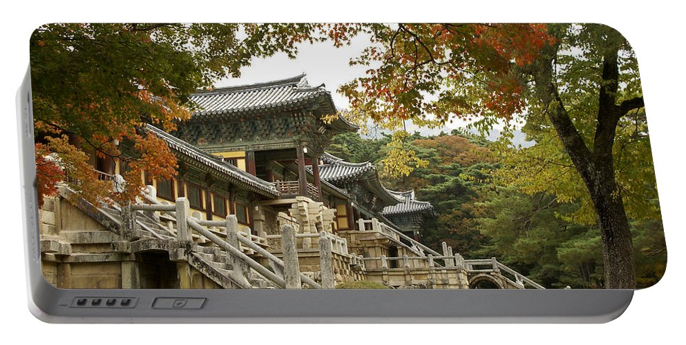 Korea Portable Battery Charger featuring the photograph Bulguksa Buddhist Temple by Michele Burgess