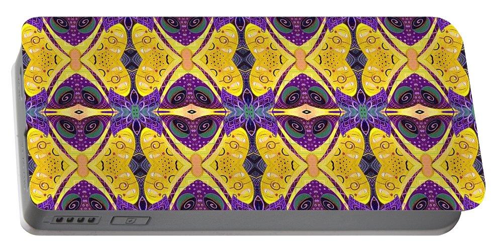 Butterflies Portable Battery Charger featuring the digital art Butterflies by Helena Tiainen
