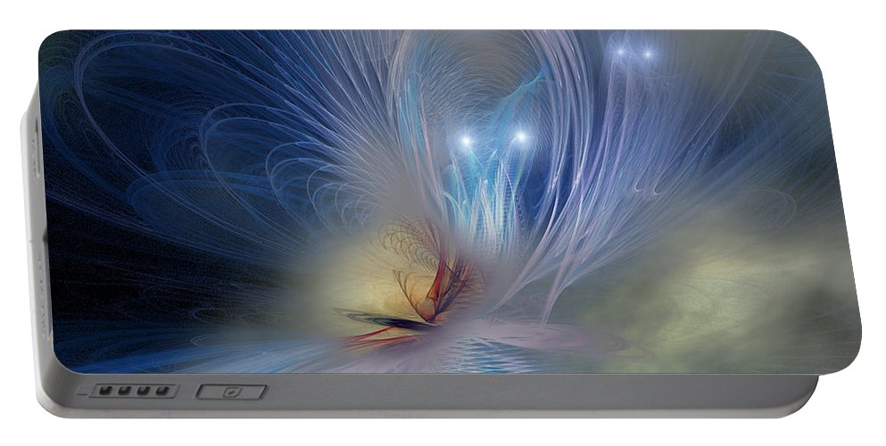 Butterfly Portable Battery Charger featuring the painting Butterfly Nebula by Corey Ford