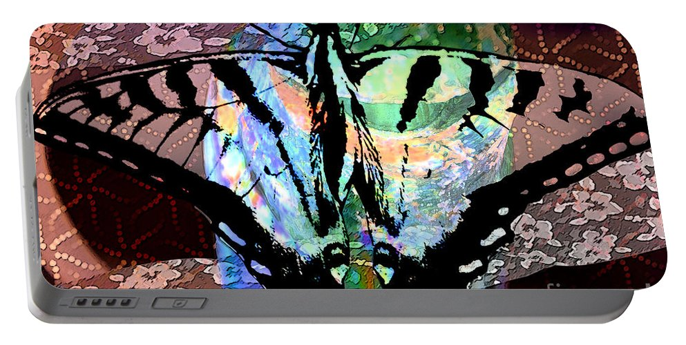 Digital Art Portable Battery Charger featuring the photograph Butterfly Pet by Elaine Berger
