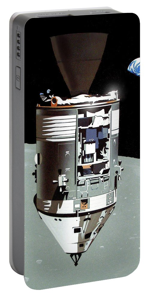 Astronauts Portable Battery Charger featuring the painting Bygone Era by Joe Roselle