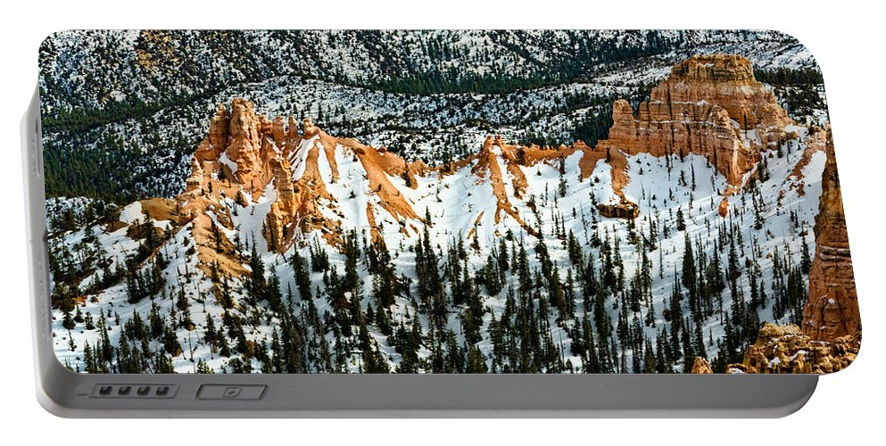 Canyon Portable Battery Charger featuring the photograph Canyon View by Christopher Holmes