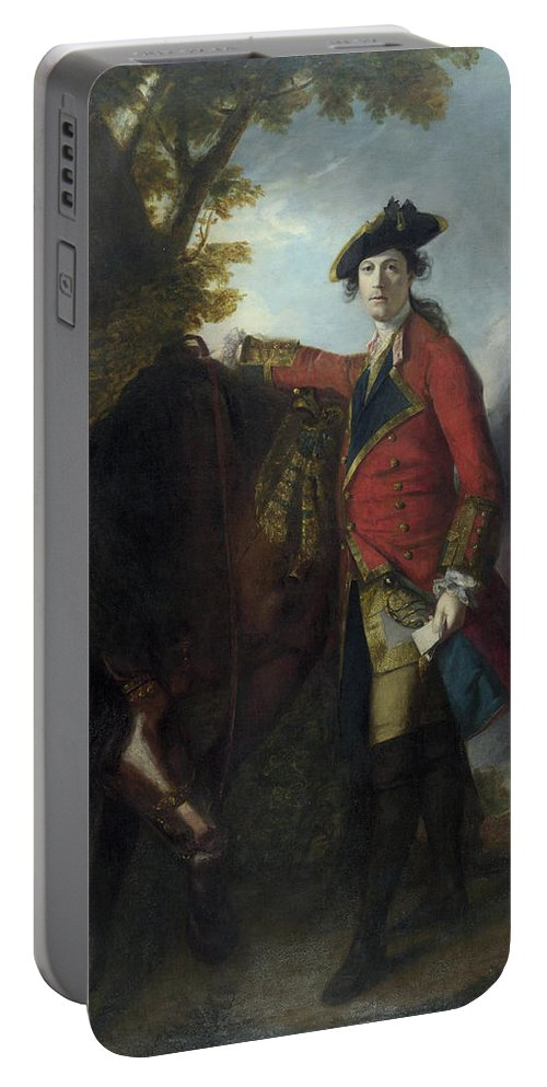 Animal Portable Battery Charger featuring the painting Captain Robert Orme by Joshua Reynolds
