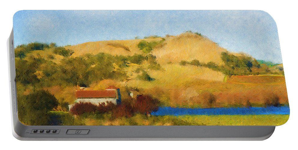 Carneros Valley Portable Battery Charger featuring the digital art Carneros Valley by Mick Burkey