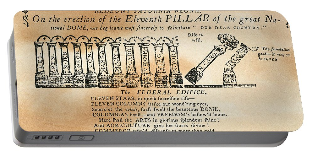 1788 Portable Battery Charger featuring the photograph Cartoon: Constitution by Granger