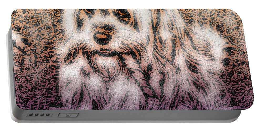 Dog Portable Battery Charger featuring the digital art Cassie Girl by Robert Orinski