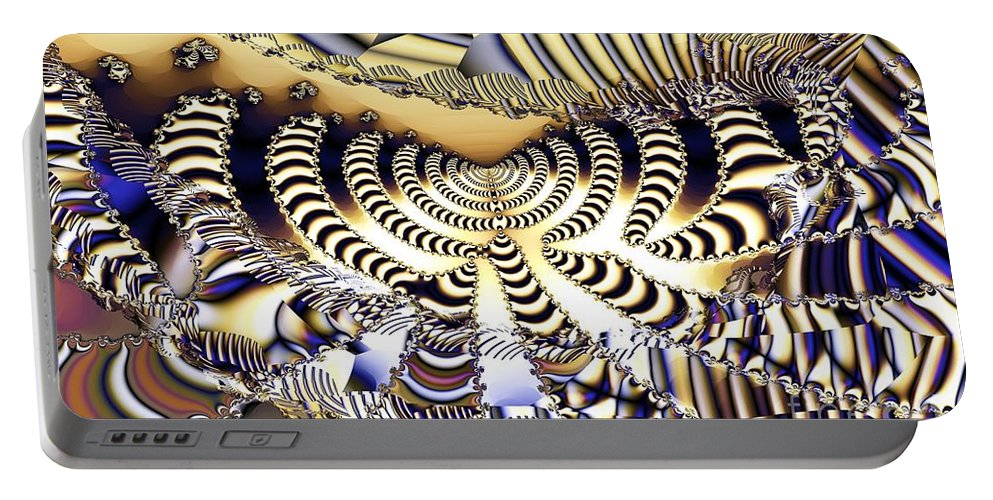 Catwalk Portable Battery Charger featuring the digital art Catwalk by Ron Bissett