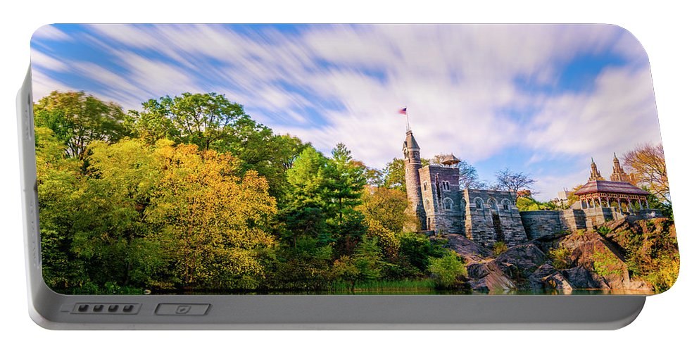Central Park Portable Battery Charger featuring the photograph Central Park, New York by Tetyana Ohare