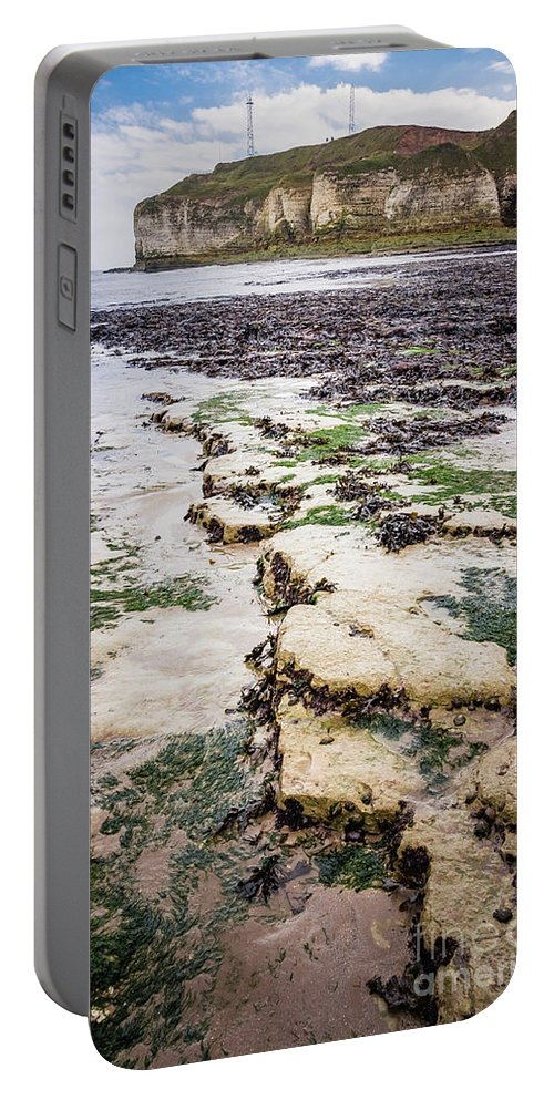 Cliffs Portable Battery Charger featuring the photograph Chalk Cliff by Mariusz Talarek
