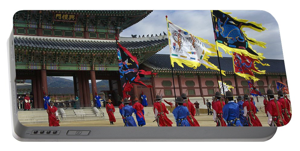 South Korea Portable Battery Charger featuring the photograph Changing Of The Guard by Michele Burgess