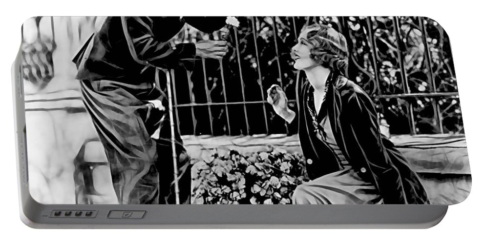 Charlie Chaplin Portable Battery Charger featuring the mixed media Charlie Chaplin Collection by Marvin Blaine
