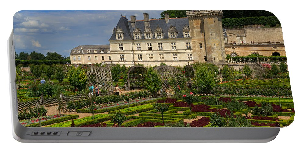 Potager Portable Battery Charger featuring the photograph Chateau De Villandry by Louise Heusinkveld
