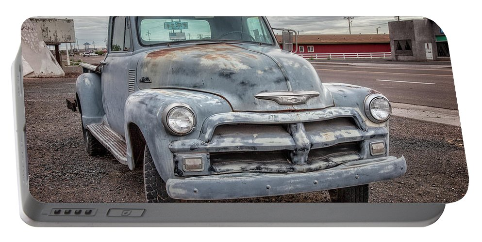 66 Portable Battery Charger featuring the photograph Chevy Truck by Diana Powell