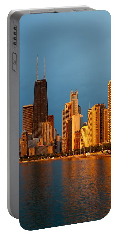 Chicago Portable Battery Charger featuring the photograph Chicago Skyline by Sebastian Musial