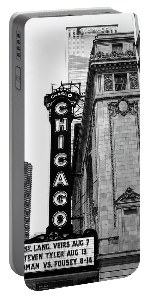 Chicago Portable Battery Charger featuring the photograph Chicago Theater by Diane Schuler
