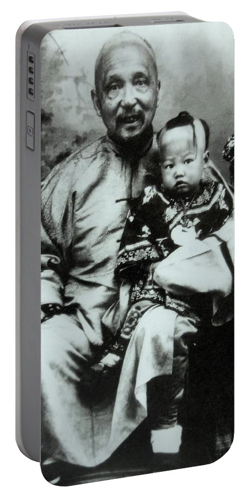 Photo Portable Battery Charger featuring the photograph China Man by Lord Frederick Lyle Morris - Disabled Veteran