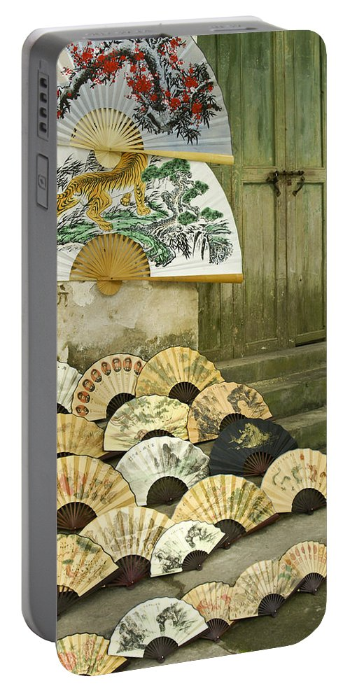 Asia Portable Battery Charger featuring the photograph Chinese Fans by Michele Burgess
