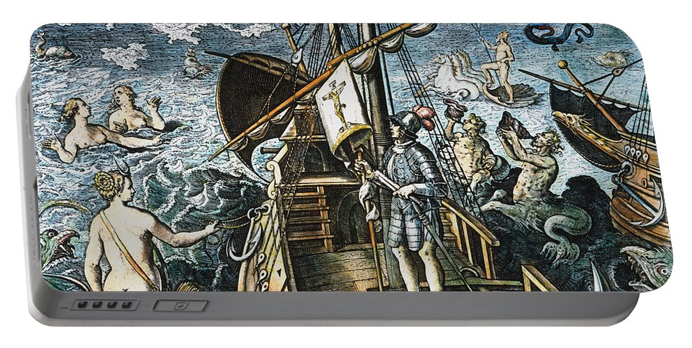 15th Century Portable Battery Charger featuring the photograph Christopher Columbus by Granger
