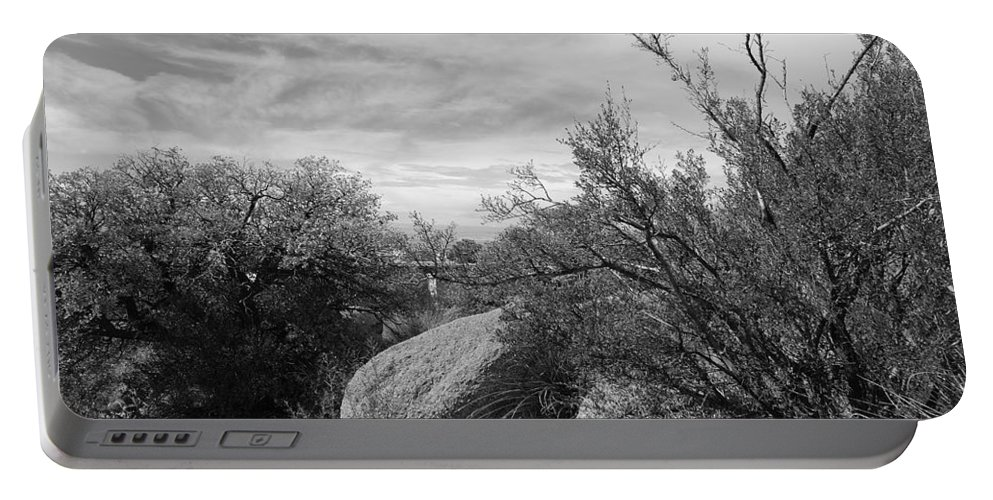 Black And White Portable Battery Charger featuring the photograph Cibola National Forest by Rob Hans