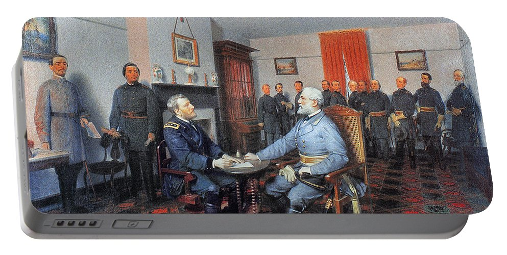 1865 Portable Battery Charger featuring the photograph Civil War: Appomattox, 1865 by Granger