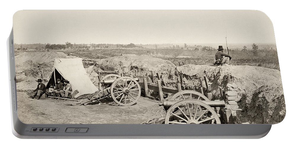 1864 Portable Battery Charger featuring the photograph Civil War: Atlanta, 1864 by Granger