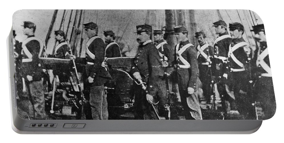 1864 Portable Battery Charger featuring the photograph Civil War: Uss Kearsarge by Granger