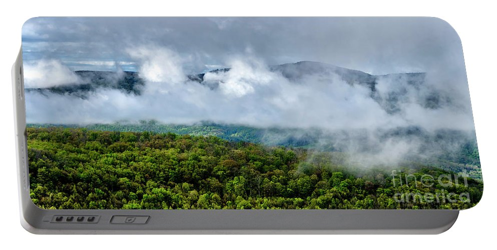 Spring Portable Battery Charger featuring the photograph Clearing Storm West Virginia Highlands by Thomas R Fletcher