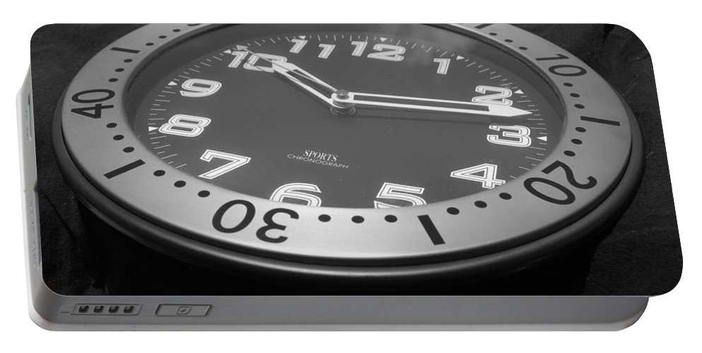Clock Portable Battery Charger featuring the photograph Clock Face by Rob Hans