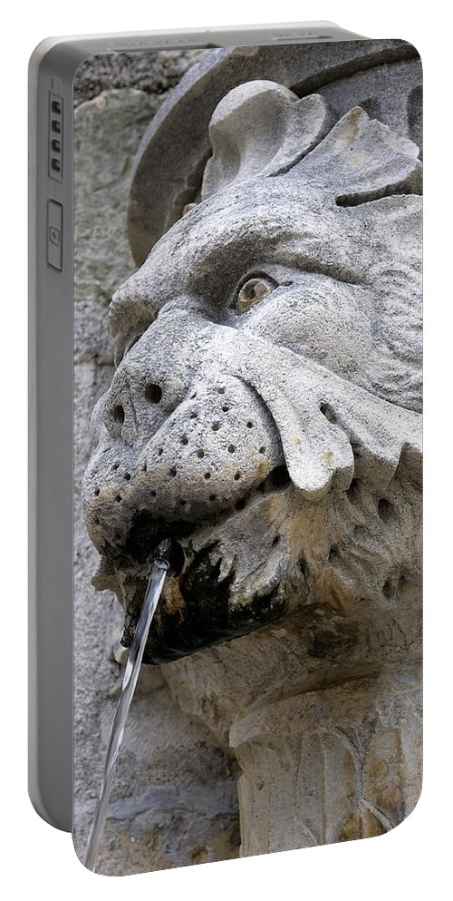 Croatia Portable Battery Charger featuring the photograph Closeup Of A Public Fountain In Dubrovnik Croatia by Richard Rosenshein