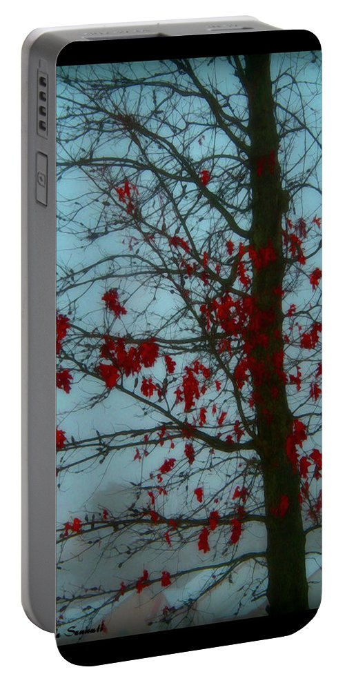 Tree Winter Nature Portable Battery Charger featuring the photograph Cold Day In Winter by Linda Sannuti