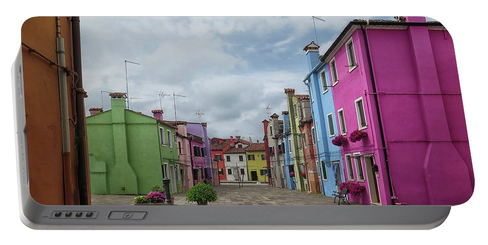 Burano Portable Battery Charger featuring the photograph Colorful Burano by Dave Mills