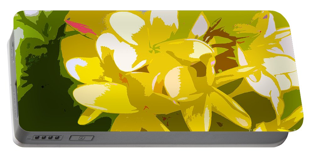 Summer Portable Battery Charger featuring the painting Colors Of Summer by David Lee Thompson
