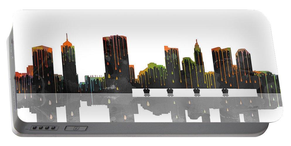 Columbus Ohio Skyline Portable Battery Charger featuring the digital art Columbus Ohio Skyline by Marlene Watson