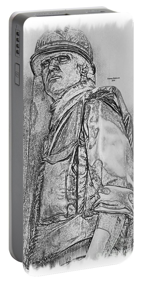 Usaf Portable Battery Charger featuring the digital art Combat Airman by Tommy Anderson