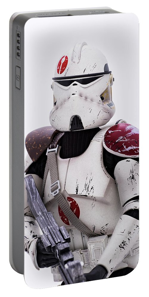 Star Wars Portable Battery Charger featuring the photograph Commander Neyo by Gregory Cook