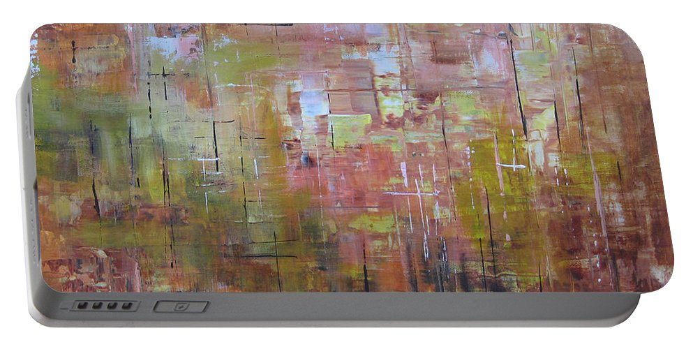 Squares Portable Battery Charger featuring the painting Communicate by Roberta Rotunda