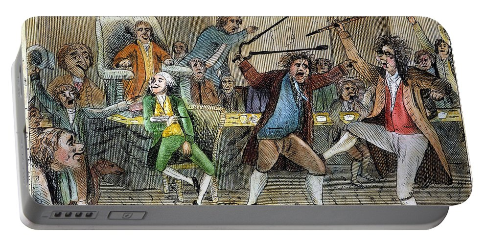 1798 Portable Battery Charger featuring the photograph Congressional Pugilists by Granger