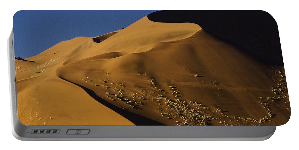 Africa Portable Battery Charger featuring the photograph Contours Of Sossusvlei by Michele Burgess
