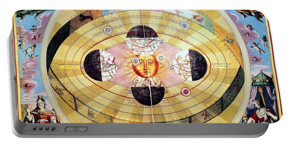 1660 Portable Battery Charger featuring the photograph Copernican Universe, 1660 by Granger