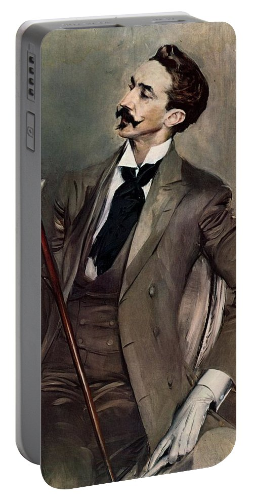Giovanni Boldini Portable Battery Charger featuring the painting Count Robert De Montesquiou by Giovanni Boldini