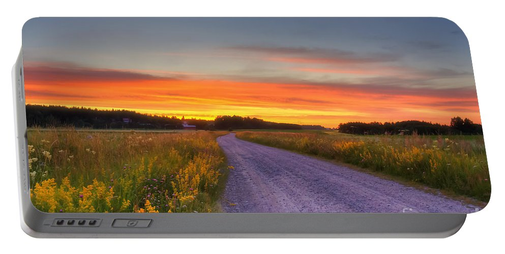 Atmosphere Portable Battery Charger featuring the photograph Country Road by Veikko Suikkanen