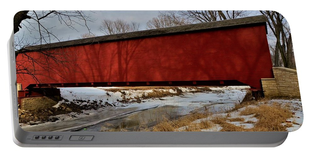 Covered Bridge Portable Battery Charger featuring the photograph Covered Bridge by Dwight Eddington