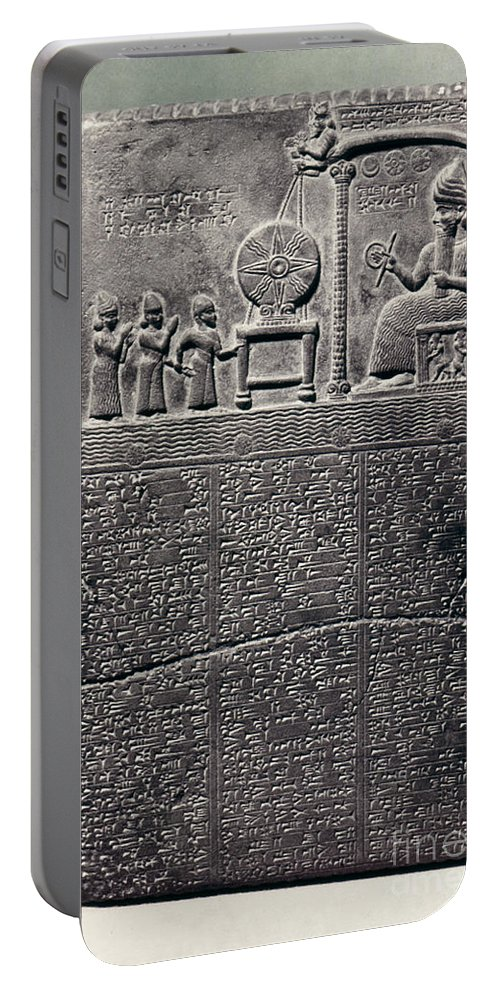800 B.c. Portable Battery Charger featuring the photograph Cuneiform by Granger